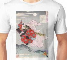 Moon At Gojo Bridge - Yoshitoshi Taiso - 1880 - woodcut Unisex T-Shirt