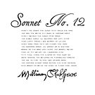 Shakespeare Sonnet No. 12 by Sally McLean