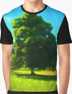 Sunlit Tree Graphic T-Shirt
