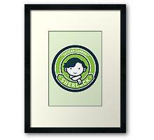 Cute Sherlock Holmes in Green Framed Print