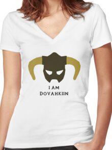 I am Dovahkiin Women's Fitted V-Neck T-Shirt