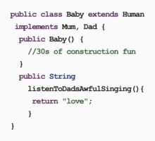 Java Code New Baby - sweet child of mine Kids Tee
