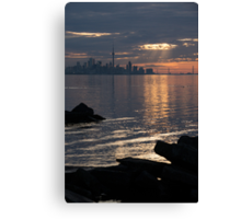 Good Morning, Toronto - the Skyline From Across Humber Bay Canvas Print