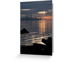Good Morning, Toronto - the Skyline From Across Humber Bay Greeting Card