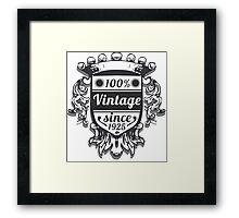 Vintage Labels Framed Print