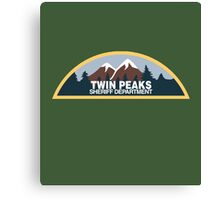 Twin Peaks Sheriff Department Canvas Print