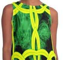 A Celtic Knotwork design in yellow & green Contrast Tank