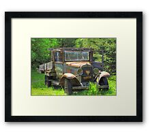 Rad Rusty Delivery Framed Print