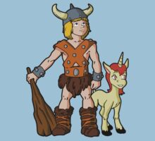 Bobby The Barbarian & Uni The Unicorn One Piece - Short Sleeve