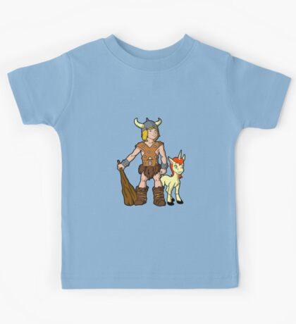 Bobby The Barbarian & Uni The Unicorn Kids Tee