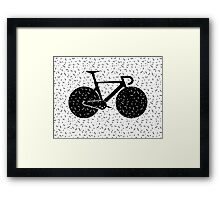 Track Bike Vector Art Framed Print
