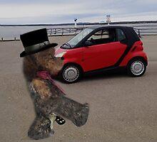 SMART BEARS DRIVE SMART CARS CREATIVE THROW PILLOW by ✿✿ Bonita ✿✿ ђєℓℓσ