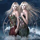 Gemini zodiac fantasy circle by Britta Glodde