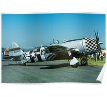"P-47D Thunderbolt 45-49192 G-THUN ""No Guts no Glory"" Poster"