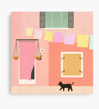 Little Pink House Canvas Print