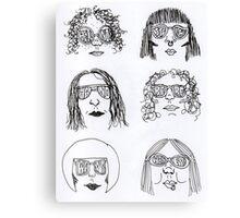 SUN GLASS GIRLS GRAPHIC Canvas Print
