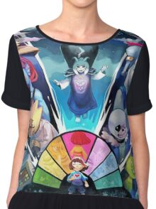 Awesome Undertale Art Chiffon Top
