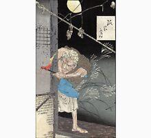 Moon Over A Single Dwelling - Yoshitoshi Taiso - 1880 - woodcut Unisex T-Shirt
