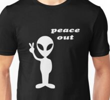 peace out alien Unisex T-Shirt