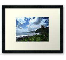 Samoan Coastline Framed Print