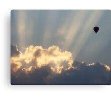 Hot Air Balloon At Sunset Canvas Print