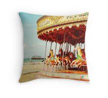 Carousel Delight (no border) Throw Pillow