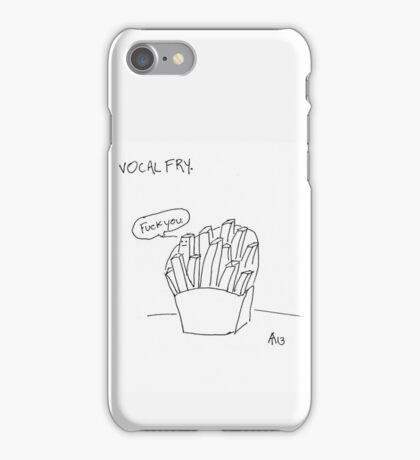Vocal Fry iPhone Case/Skin