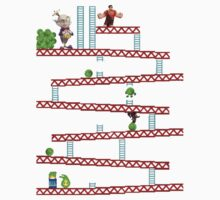 Wreck it ralph in Donkey kong no background by Speedydragon