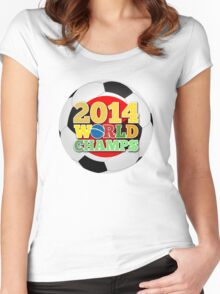 2014 World Champs Ball - Japan Women's Fitted Scoop T-Shirt