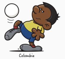 2014 World Cup T-Shirts - Colombia by spaghettiarts