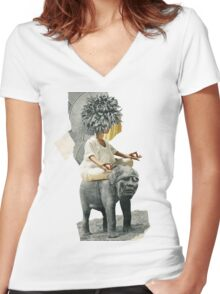 mEdiPHAnT Women's Fitted V-Neck T-Shirt