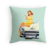 Pin-Up Girl 'Bottoms Up'! Throw Pillow