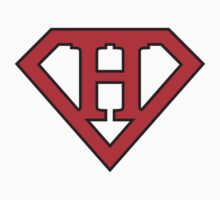 H letter in Superman style Kids Tee
