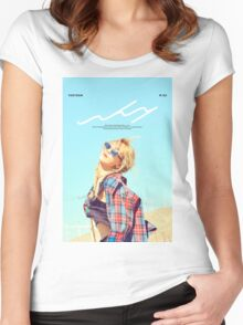 Taeyeon Why Women's Fitted Scoop T-Shirt