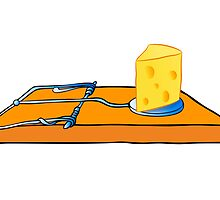 mousetrap with cheese by siloto