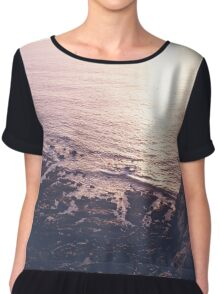 Pink Ocean Sunset Chiffon Top