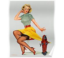 Pin-Up Girl 'All Wound Up!' Poster