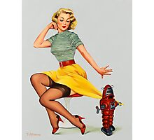 Pin-Up Girl 'All Wound Up!' Photographic Print