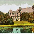 A digital painting of Reichenau, Villa Wartholz, Lower Austria, Austro-Hungarian Empire c 1890 by Dennis Melling