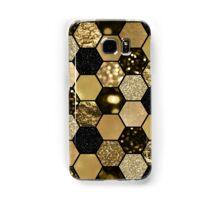 Dark gold foil hexaglam Samsung Galaxy Case/Skin