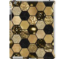 Dark gold foil hexaglam iPad Case/Skin