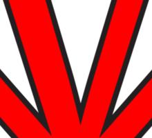 V letter in Superman style Sticker