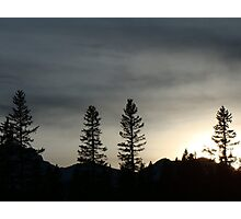 Dusk In The Rockies Photographic Print