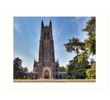 The Gothic Cathedral of Duke University Art Print