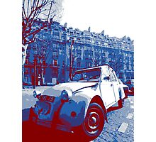 Citroen 2Cv: red, white and blue Photographic Print