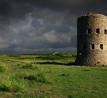 Martello Tower Landscape Guernsey by fiorephoto