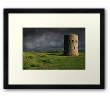 Martello Tower Landscape Guernsey Framed Print