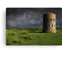 Martello Tower Landscape Guernsey Canvas Print