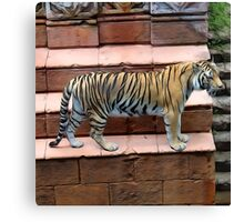 Tiger - Oil Painting Canvas Print
