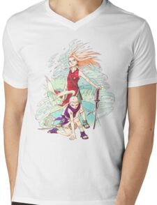 Sakura & Ino Mens V-Neck T-Shirt